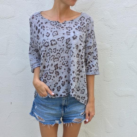 f7470d5f58252 (Rebecca Taylor) Leopard Print Lightweight Top. M 5b7211a80cb5aa7d2cd0d8f2